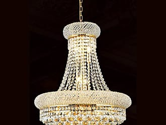 Worldwide Lighting W83030G16 Empire 8 Light 1 Tier 16 Gold Chandelier