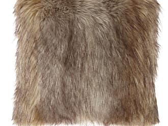 Dian Austin Couture Home Carte Le Blanche Wolf Faux-Fur Boutique Pillow