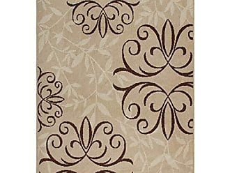 Orian Rugs Four Seasons Indoor/Outdoor Josselin Whisper Area Rug, 310 x 55, Beige