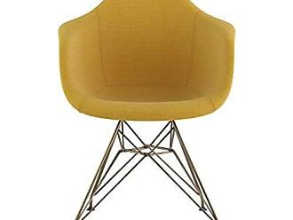NyeKoncept 332003EM2 Mid Century Eiffel Arm Chair, Papaya Yellow