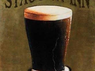 Buyartforless Buyartforless Stagger Inn by Robert Downs 20x16 Art Print Poster College Poster Beer Bar Drinking