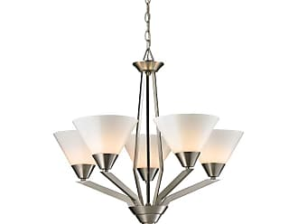 Thomas Lighting 2455CH Tribecca 5 Light 25 Wide Chandelier with White