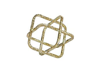 Foreside Home And Garden Metal Cube Sculpture Small