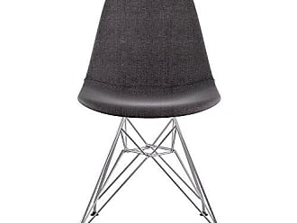 NyeKoncept 331008EM1 Mid Century Eiffel Side Chair, Charcoal Gray