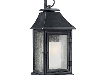Feiss Shepherd 35.13 Outdoor Wall Sconce in Dark Weathered Zinc