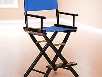 Yu Shan Casual Home 24 Directors Chair Black Frame-with Royal Blue Canvas, Counter Height