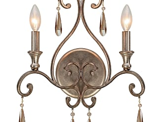 Crystorama 7522-DT Wall sconce with the transitional finish - Distressed Twilight - and Golden Shadow hand cut crystals