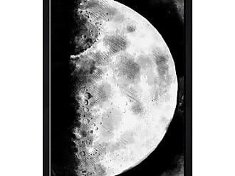 Hatcher & Ethan Moon Sketch Framed Wall Art - HE15195_17X20_GLOS_BELV_HE