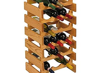 Wooden Mallet 18 Bottle Dakota Wine Rack, Light Oak