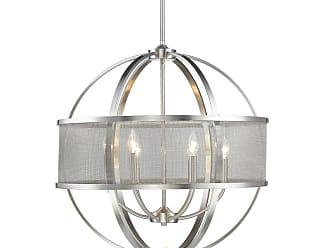 Golden Lighting 3167-6 PW-PW Colson 6 Light 26-3/4 Wide Chandelier