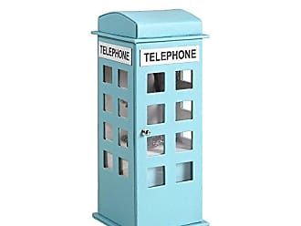 Ore International ORE International HBB1819 British Telephone Booth Leather Jewelry Box, Pastel Blue
