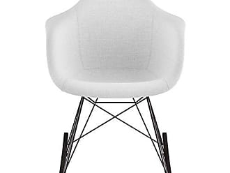 NyeKoncept 332007RO3 Mid Century Rocker Chair, Glacier White