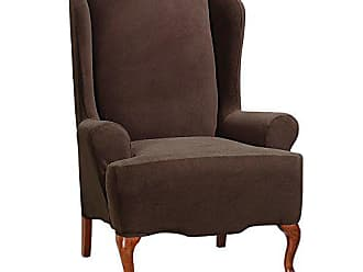 Sure Fit SureFit Stretch Morgan - Wing Chair Slipcover - Chocolate