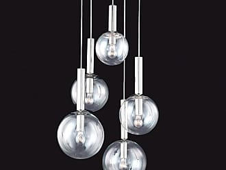 SONNEMAN 3765 Bubbles 5 Light Pendant with Clear Glass Shades Polished