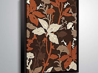 Brushstone Brown Floral Pod by Scott Medwetz Framed Canvas - 0MED826A0810F