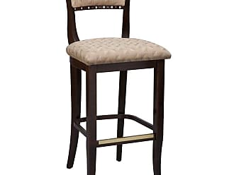 Regal Camarillo Beidermier 26 in. Counter Stool - Upholstered Seat and Back Black - 2568USB-26-MAHOGANY-BLACK