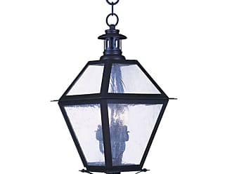 Livex Lighting 2046 3 Light 180 Watt Outdoor Pendant with Seeded Glass
