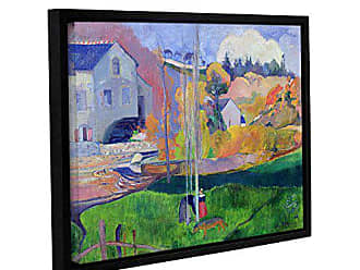 ArtWall Paul Gauguins Brittany Landscape The David Mill Gallery-Wrapped Floater-Framed Canvas, 36 x 48