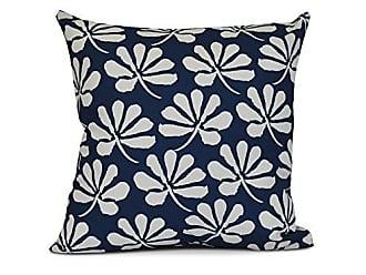 E by Design E by design Ingrid Floral Print Pillow 18 x 18 Blue
