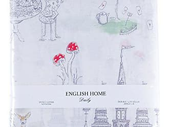 english home alice in wonderland bed clothes 200x220 cm gray baumwolle 200 x 220 cm