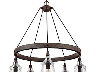 Feiss Loras - 5 - Light Chandelier in Dark Weathered Iron