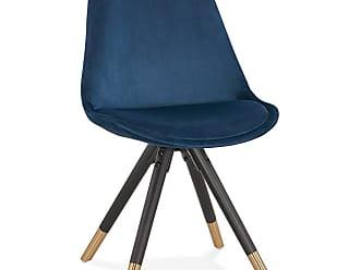 chaise bureau bois bleu pied centrl