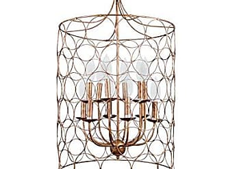 Creative Co-op Creative Co-op Metal Chandelier with Circle Designs & 12 Lights, 23 Round by 38 Height, Gold