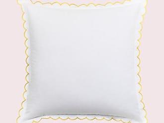 Kate Spade New York Scallop Edge Euro Pillow, Yellow - Size EURO