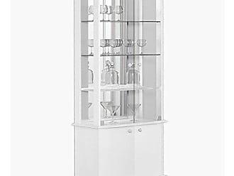 Imcal Cristaleira Monalisa 04 Portas Branco Acetinado - Imcal