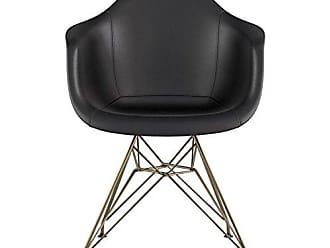 NyeKoncept 332009EM2 Mid Century Eiffel Arm Chair, Milano Black