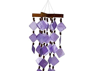 Woodstock Chimes 13 in. Diamond Capiz Wind Chime - Purple - CDCU