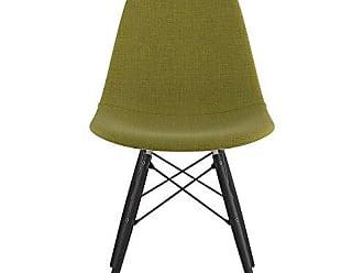 NyeKoncept 331002EW3 Mid Century Dowel Side Chair, Avocado Green
