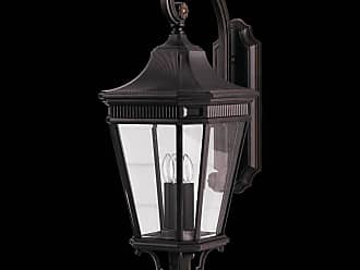 Feiss OL5404GBZ Cotswold Lane Outdoor Lantern in Grecian Bronze finish with Clear beveled glass shade