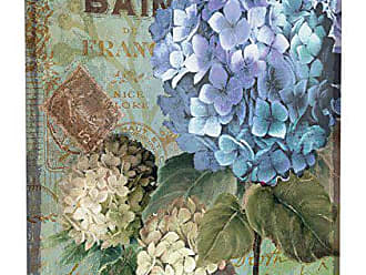 Stupell Industries Stupell Home Décor Colorful Hydrangeas with Antique French Backdrop Stretched Canvas Wall Art, 17 x 1.5 x 17, Proudly Made in USA