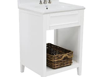 222 Fifth Hudson Rectangular Single Sink Bathroom Vanity - 7039WH900A1J08