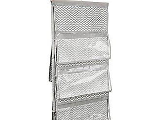 InterDesign 5-Pocket Handbag Organizer - Chevron Hanging Closet Storage System, Taupe/Natural