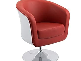 CorLiving DLN-250-C Mod Collection Accent Chair, Red/White