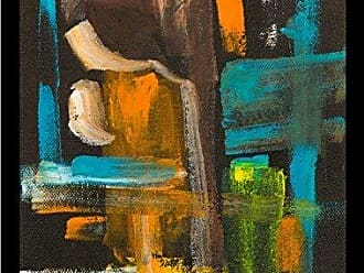 Buyartforless Buyartforless Framed Contrast of Colors IV by Elizabeth Stack 18x24 Art Print Poster Abstract Colorful Painting Brown Blue Orange