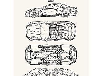 Inked and Screened SP_AUTO_620,534,S1_TW_24_K Automobiles Et Al Maserati No. 2-Lorenzo Ramaciotti 2010 Print, True White-Black Ink, 18 x 24