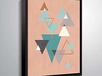 Brushstone Abstract Geo II Pink by Veronique Charron Framed Canvas - 2CHA110A0810F