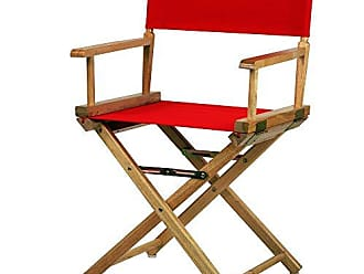 Yu Shan Casual Home 18 Directors Chair Natural Frame with Red Canvas