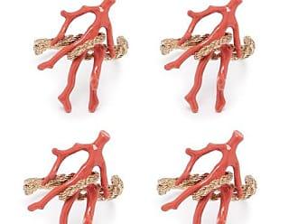 L'OBJET Lobjet - Set Of Four Snake And Coral Napkin Rings - Gold