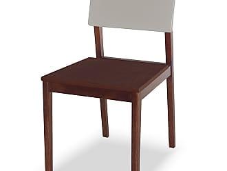 Nem Tudo é Igual Cadeira Felipe Marrom Escuro e BrancoMarrom Escuro e Branco