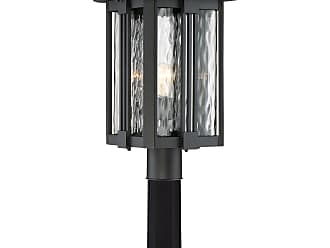 Quoizel Everglade 20.25 Outdoor Post Lantern in Earth Black