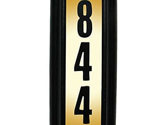 QualArc Edgewood Vertical Lighted Address Plaque Oil Rub Bronze - LTV-1303-ORB