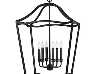 Feiss Yarmouth 6 - Light Foyer in Antique Forged Iron
