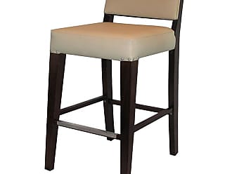 Regal Juniper Beechwood 26 in. Counter Stool Fully Upholstered Seat and Back Black - 2438USB-26-MAHOGANY-BLACK