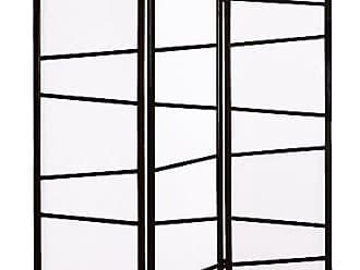 Round Hill Furniture 3-Panel Screen Room Divider, Black