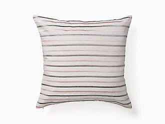 Kate Spade New York Embroidered Stripe Pillow, Platinum/Pink - Size 18 x 18