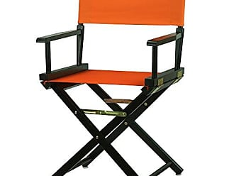 Yu Shan Casual Home 18 Directors Chair Black Frame with Tangerine Canvas